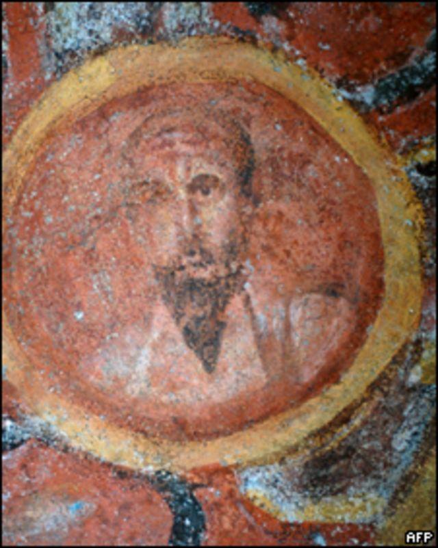 Retrato de San Pablo en las Catacumbas de Santa Tecla