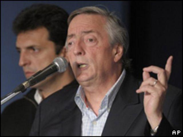 Néstor Kirchner, ex presidente argentino.