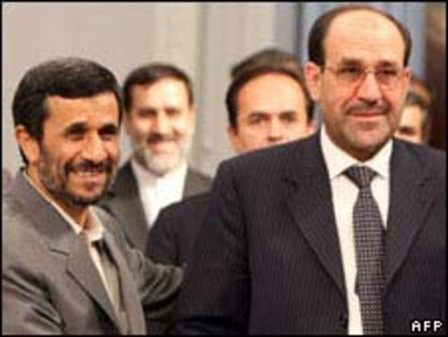 Mahmoud Ahmadinejad y Nouri al-Maliki