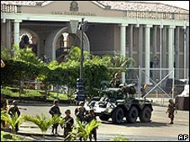El palacio presidencial en Tegucigalpa