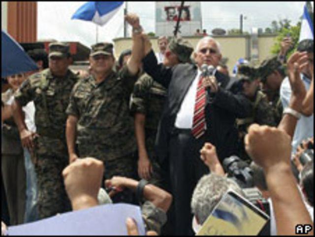 Roberto Micheletti, presidente interino de Honduras.