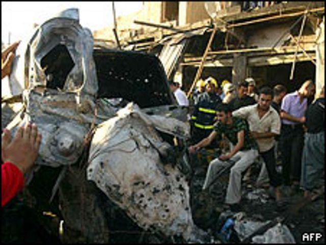 Imágenes de Kirkuk luego del ataque.