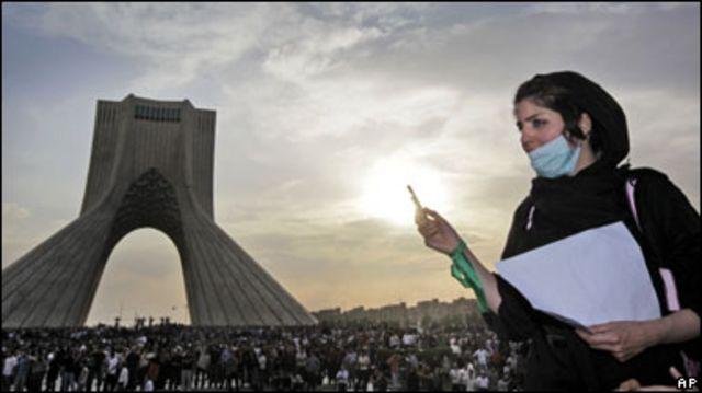 ايرانية من مؤيدي موسوي