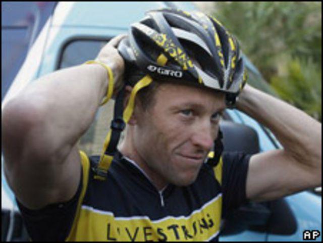 Lance Armstrong, ciclista estadounidense.