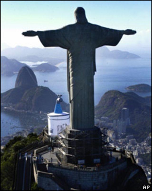 Cristo de Corcovado, en Brasil