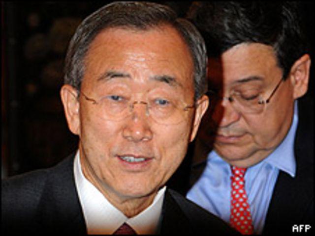 Ban Ki Moon antes de partir haciai Birmania