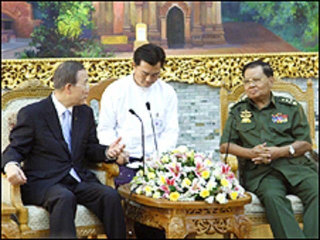 بان كي مون والجنرال ثان شوي