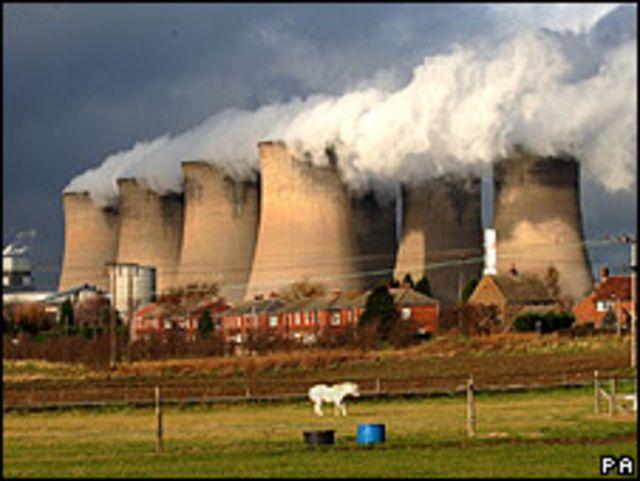 Planta de energía en el Reino Unido