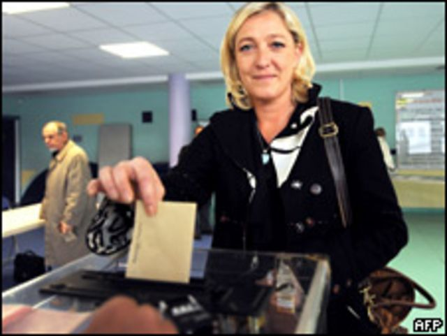 Marine Le Pen, hija de Jean Marie Le Pen.