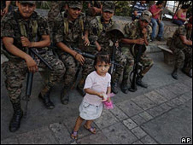 Niña en Honduras