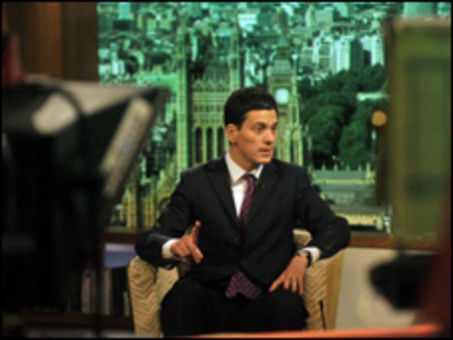 وزير الخارجية البريطاني، ديفيد ميليباند