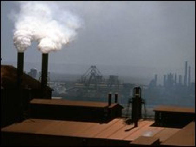 Imagen de contaminación en China