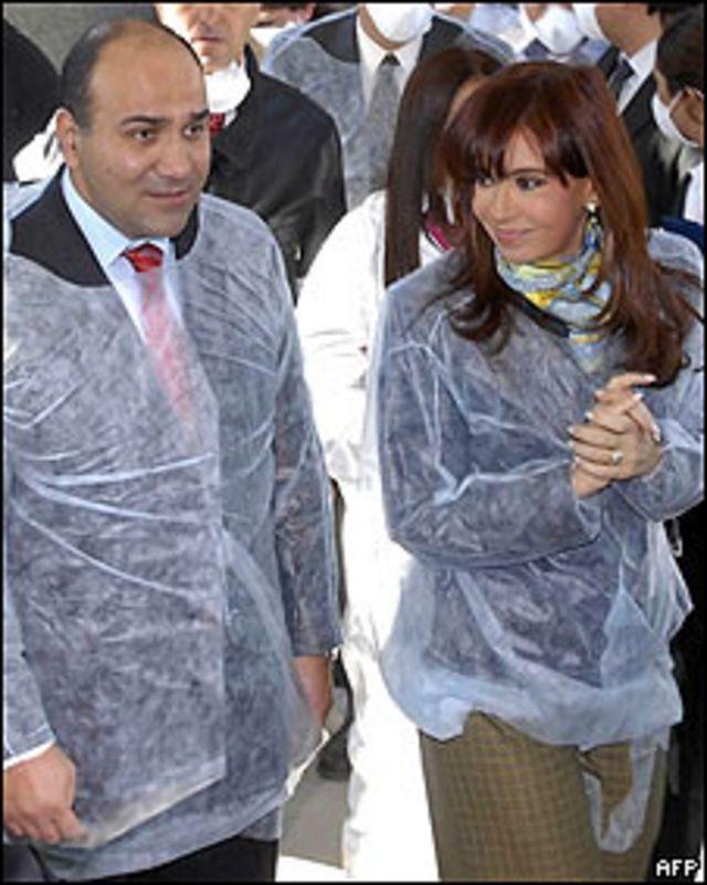 Juan Luis Manzur y la presidenta de Argentina, Cristina Fernández