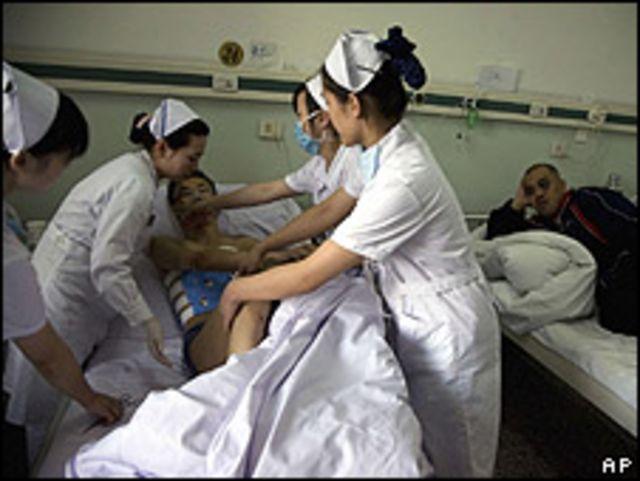 Heridos por las protestas en Xianjiang