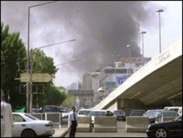 موقع انفجار في جدة