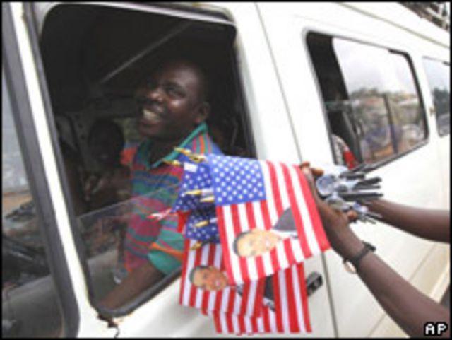 Banderitas de Obama en Ghana