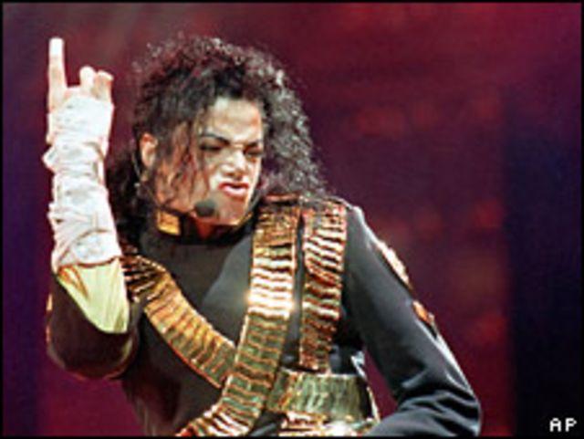 Jackson durante un concierto en 1993