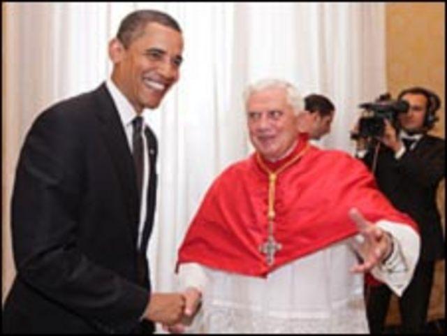 بابا الفاتيكان وباراك اوباما