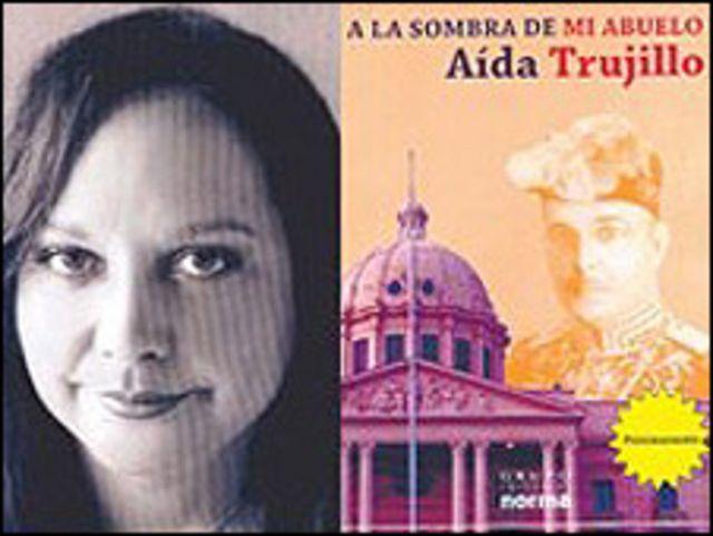 """Aida Trujillo Ricart y portada del libro """"A la sombra de mi abuelo"""""""
