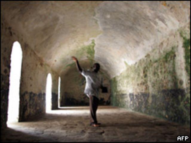 Castillo esclavista de Costa del Cabo en Ghana