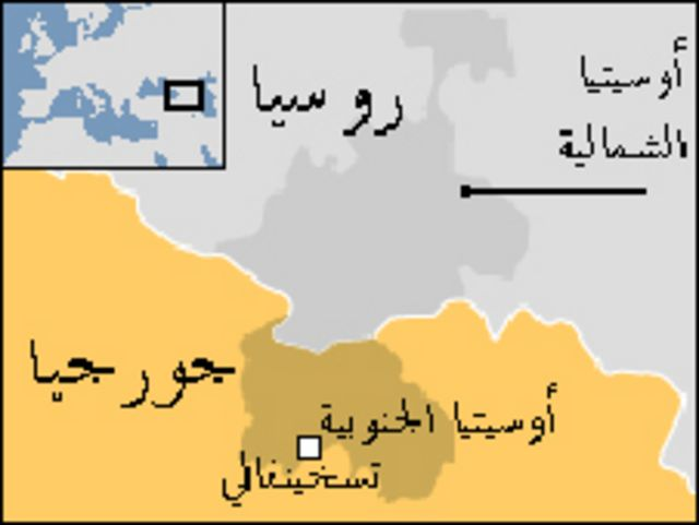 خريطة أوسيتيا الجنوبية