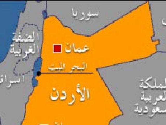 خريطة الاردن