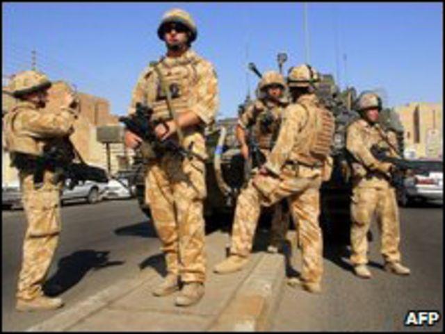 جنود بريطانيون في العراق