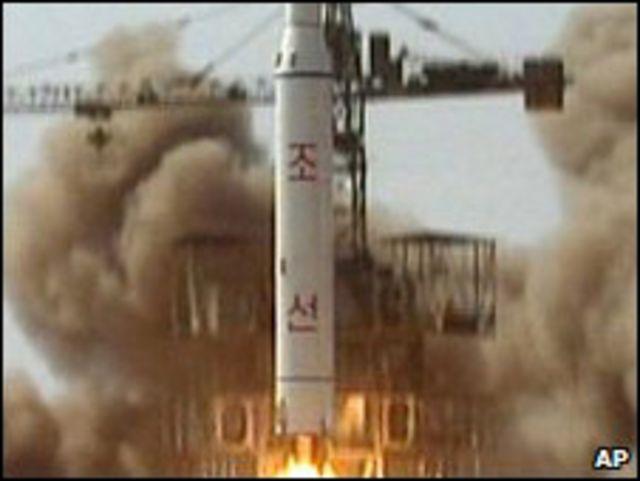 منصة اطلاق صواريخ في كوريا الشمالية