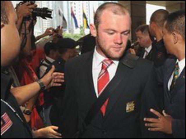 وين روني، نجم فريق مانشستر يونايد