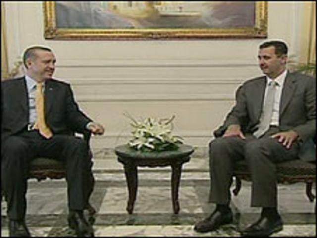 الأسد مع أردوغان