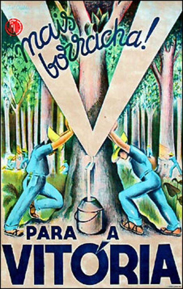 Propaganda para atrair trabalhadores para a Amazônia (Acervo Jean Pierre Chabloz)