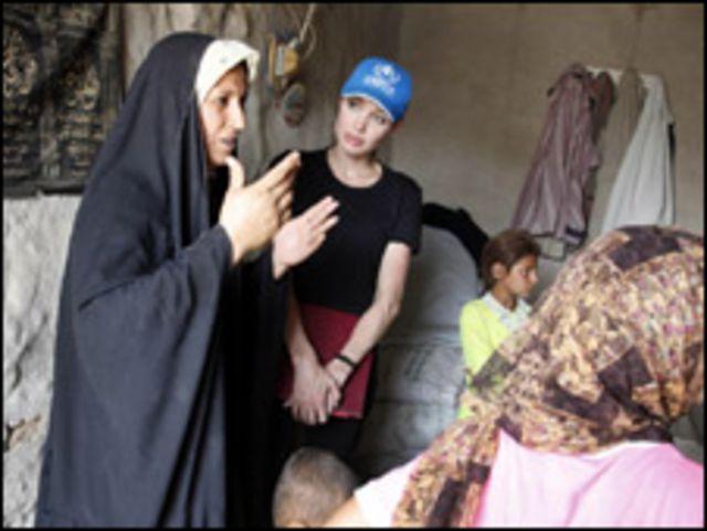 انجلينا جولي في العراق
