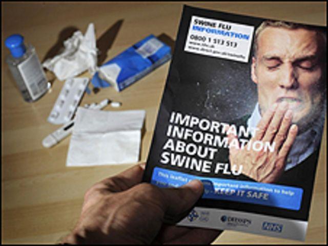 كتيب انفلونزا ومواد طبية