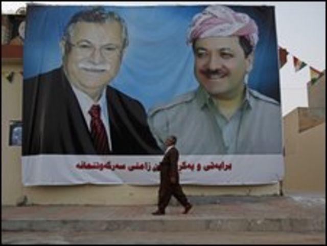 ملصق انتخابات في كردستان