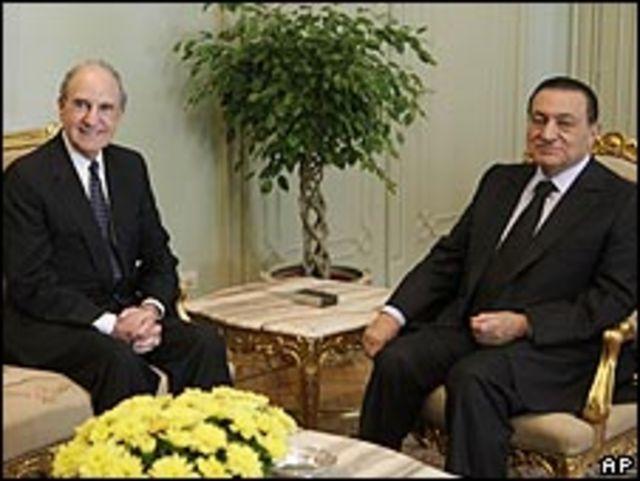 محادثات مبارك وميتشل في القاهرة