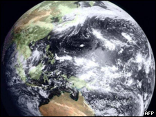 Тихий океан, вид из космоса