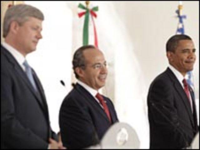 رؤساء كندا والمكسيك والولايات المتحدة