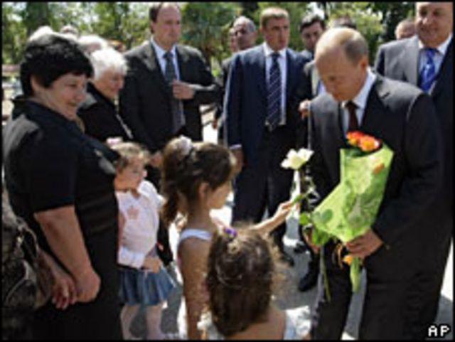 رئيس وزراء روسيا فلاديمير بوتين يزور أبخازيا