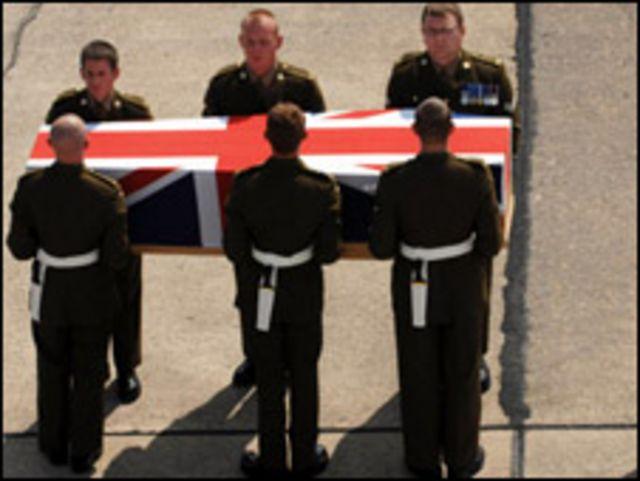 جنازة قتيل بريطاني