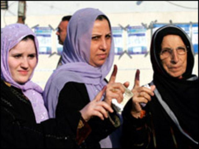 ناخبات عراقيات