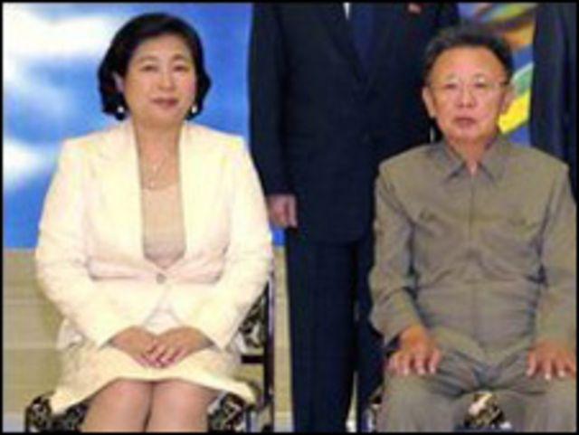 كيم يونج ايل مع رئيسة شركة هيونداي