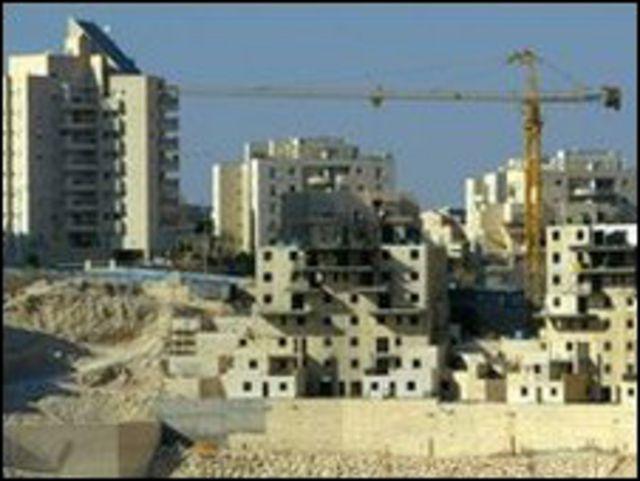 منطقة بناء في المستوطنات