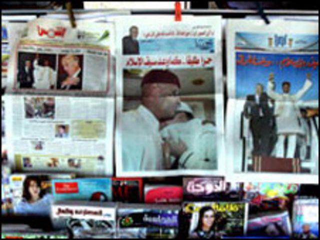 عناوين الصحافة الليبية بعد اطلاق المقرحي