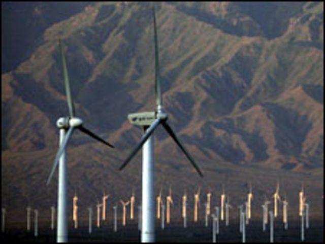 حقل للطاقة الريحية بالصين