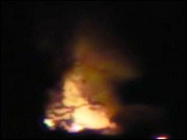 صورة ارسلها احد الشهود الى بي بي سي التقطت على بعد حوالي 500 متر