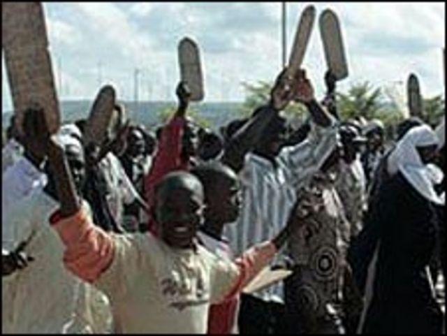 جانب من مظاهرات الجماعات الاسلامية