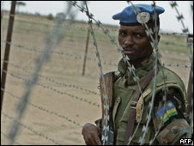 جندي من قوات حفظ السلام في السودان