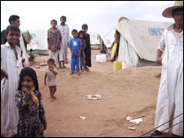 لاجئون يمنيون