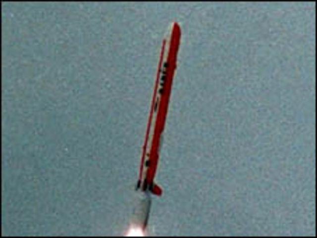 تجربة اطلاق صاروخ باكستاني