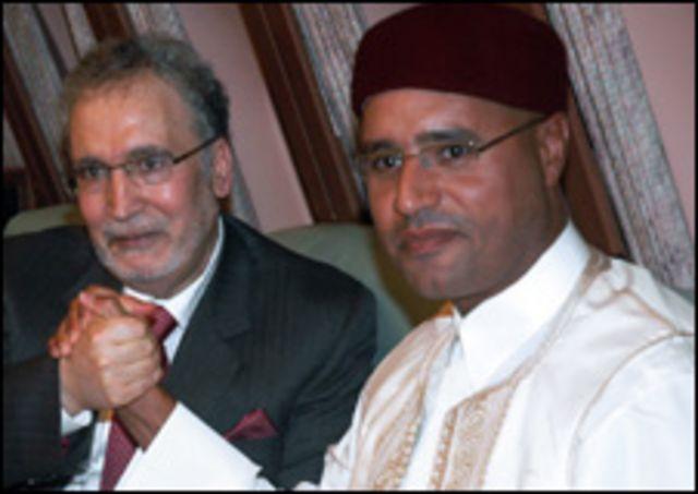 المقرحي وسيف الاسلام قذافي